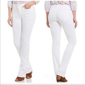 NWT NYDJ Marilyn Straight Stretch Jeans In White